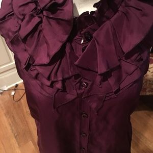 J Crew Royal Plum silk, Size 10